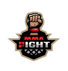mixed martial arts sport logo vector image