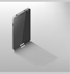 mobile phone isometric vector image