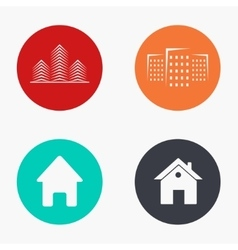 modern real estate colorful icons set vector image vector image