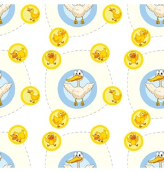 Seamless pattern with kids theme vector image