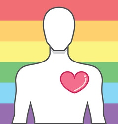 Symbol a victory for equality of same-sex marriage vector image