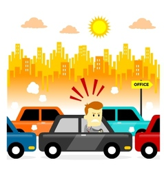 Traffic Jam vector image vector image