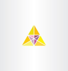yellow purple triangle business logo vector image vector image