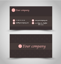 Business card set template brown chocolate color vector