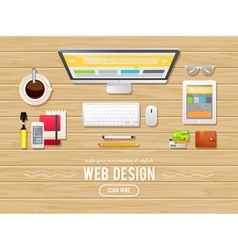 Flat design concept for webdesign web banners vector image vector image