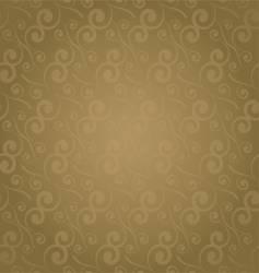 swirl repeat golden vector image vector image