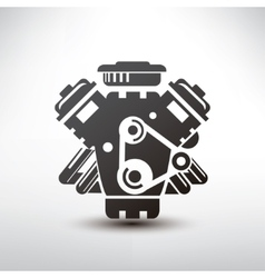 car engine symbol stylized silhouette of vector image
