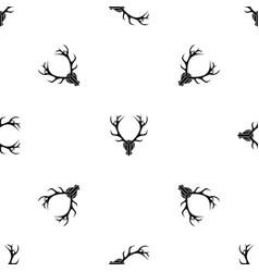 deer antler pattern seamless black vector image