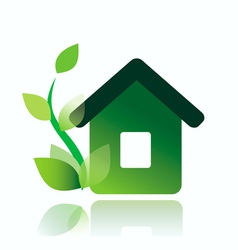 eco home icon isolated vector image vector image