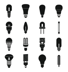 Light bulb icons set simple style vector image