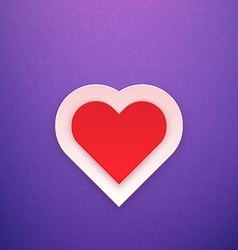 Red Heart on Purple Background vector image vector image