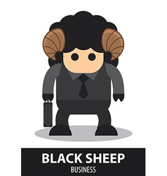 Black sheep business cartoon vector image