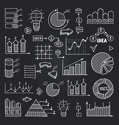 charts data graphs and other infographics vector image