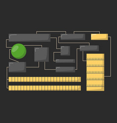 cpu microprocessors isolated microchip hardware vector image