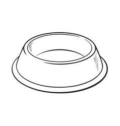 empty green shiny plastic bowl for pet cat dog vector image vector image