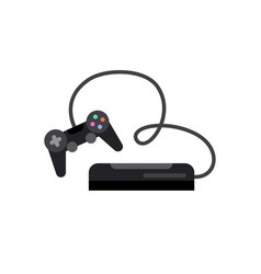 game console with joystick vector image vector image
