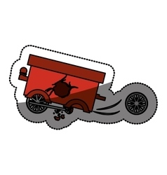 Isolated toy cart damaged design vector image