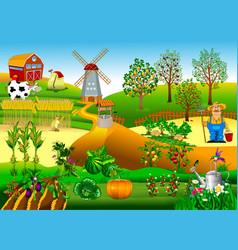 new windmill farm vector image vector image
