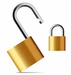 padlock vector image