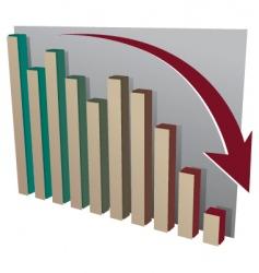 stock market crash chart vector image vector image