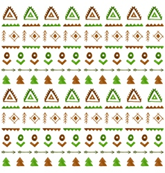 Tribal seamless background Ethnic pattern vector image vector image