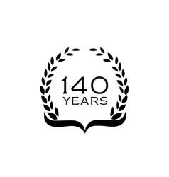 140-years-logo vector image