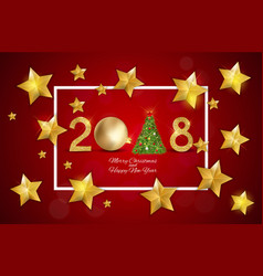 2018 merry christmas and new year background vector