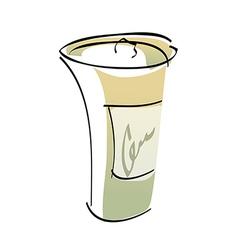 A paper cup vector