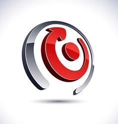 Abstract 3d arrow icon vector