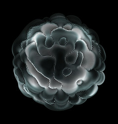 Abstract colorful mesh on dark vector