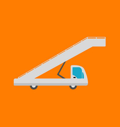 Airport ladder flat icon vector