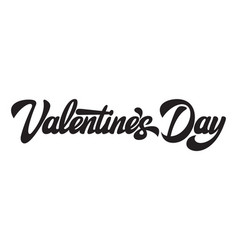 alligraphic horizontal inscription valentines vector image