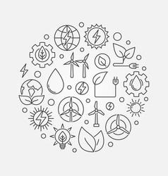 Alternative energy circular vector