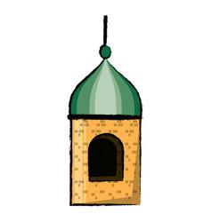 arabian castle icon vector image