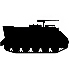 Armoured personnel carrier silhouette vector