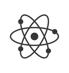 Atom science chemistry laboratory icon vector