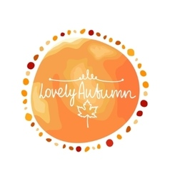 Autumn orange background spot in round shape vector