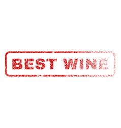 best wine rubber stamp vector image