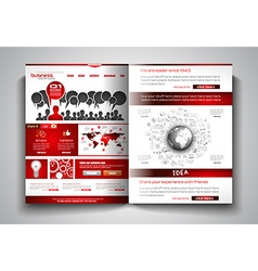 bi-fold brochure template design or flyer layout vector image