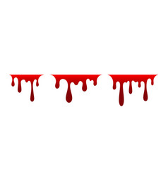 Blood drip set drop blood isloated white vector