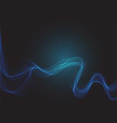 blue circle dot line mesh wave smoke light vector image