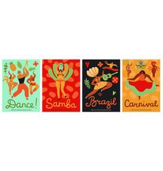 Brazil carnival samba latin trendy party vector