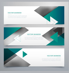 Business style geometric banners set vector