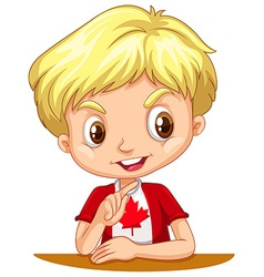 Canadian boy with blond hair vector
