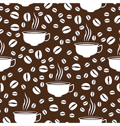 coffee cap pattern brown vector image