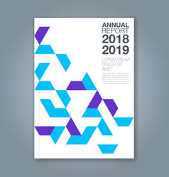 cover annual report 1174 vector image