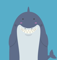 Cute big fat shark vector