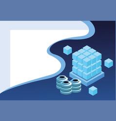Digital technology background vector
