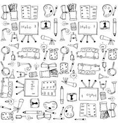 Doodle school clip art hand draw vector