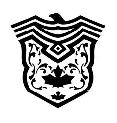 eagle crest crest fashion print design vector image